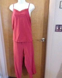 3 Piece Pajama Set: Camisole, Pants, Jacket Sz 2X